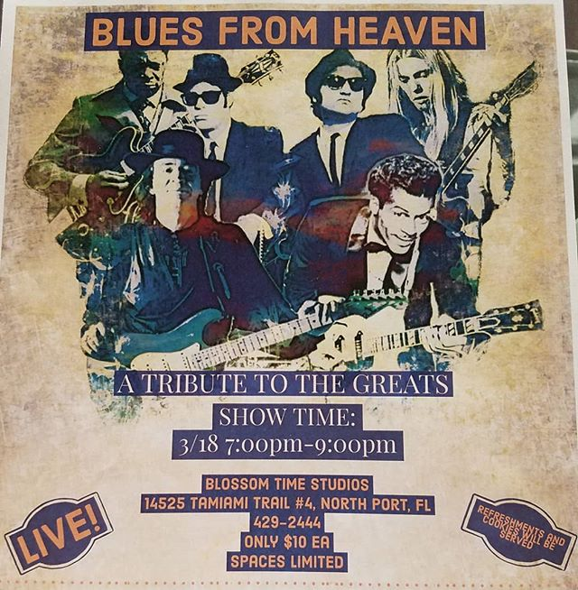 Get your tickets NOW!!!! #blues #musicstore #northport #portcharlotte #bluesguitar #localbusiness #musicschools #joelearnedhashtags