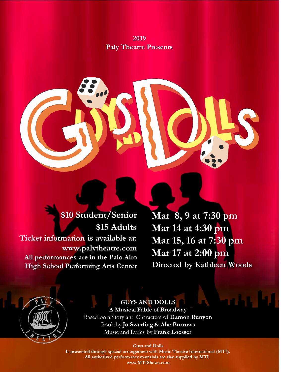 Guys and Dolls - March 2019Production PhotosCast List