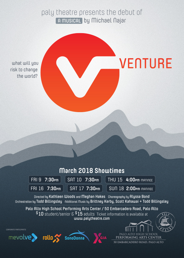 Venture - March 2018Production PhotosCast ListPress Coverage: Palo Alto Online 3/28/2018