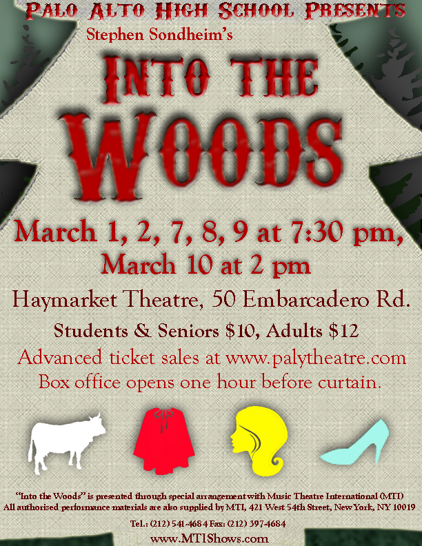 Into the Woods - March 2013Production PhotosCast List