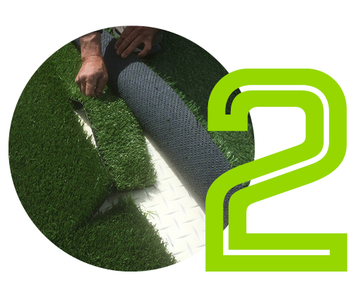 An even base - A smooth, stable base is created using either recycled plastic panels or aggregate, carefully incorporating contours and modulations typically found on a natural grass putting green.
