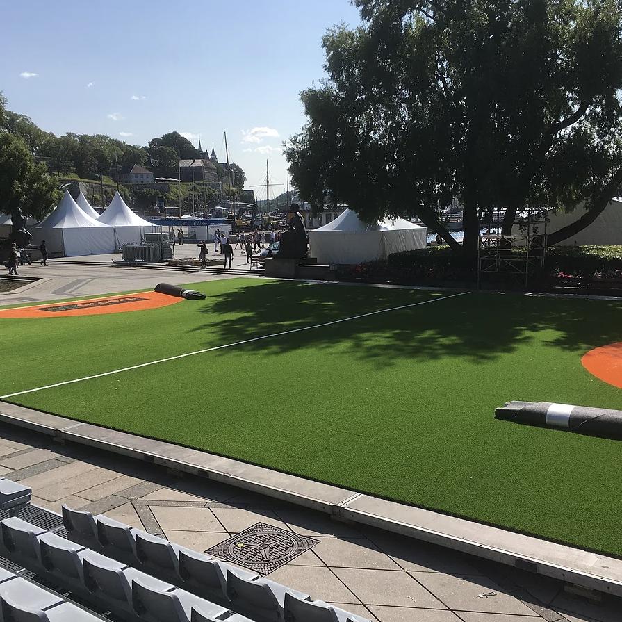 Temporary football pitch -