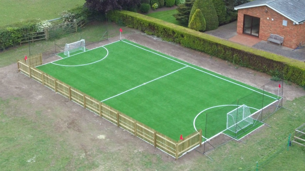 Football pitch at home -