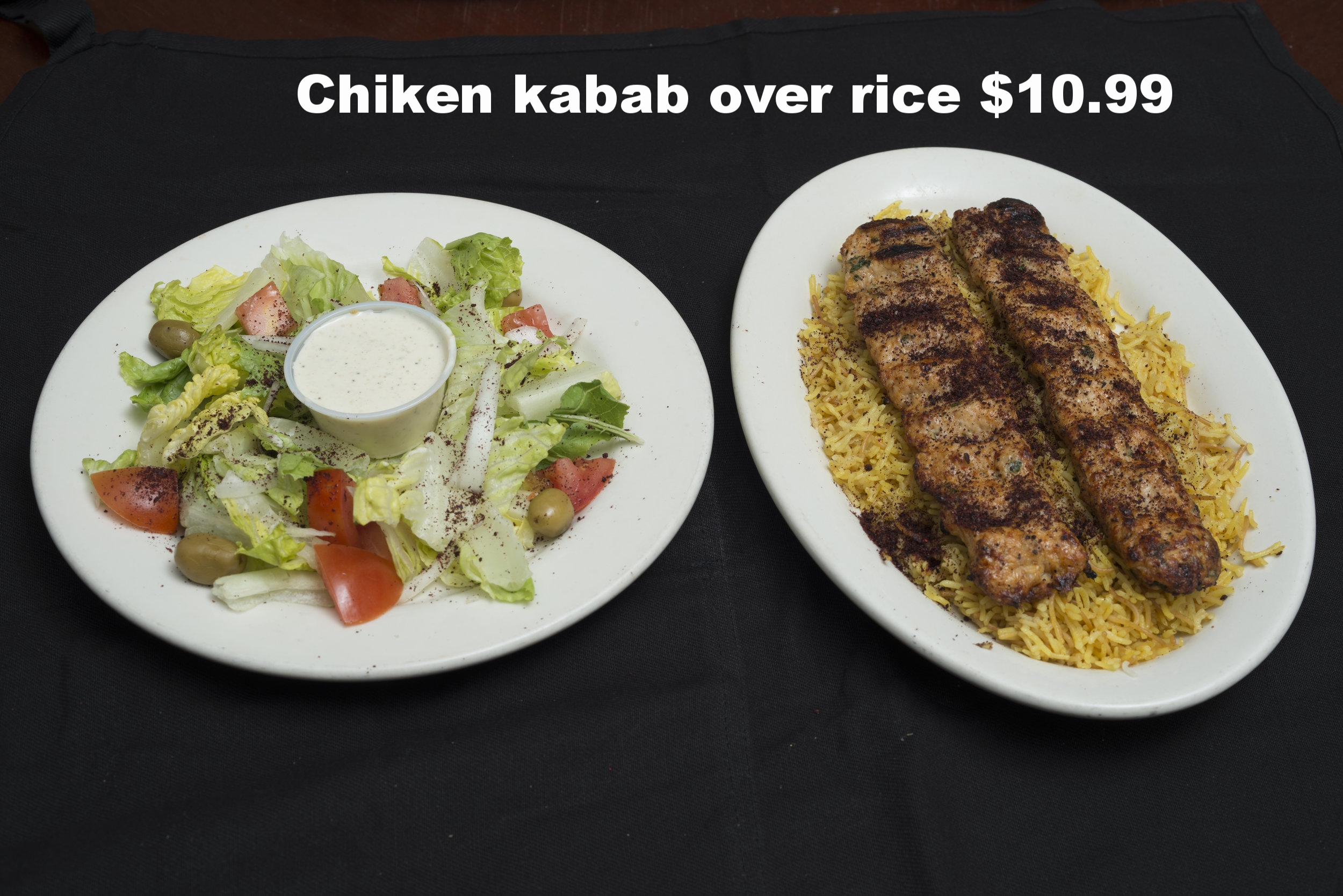 Copy of Chicken Kabob over rice . . . $10.99