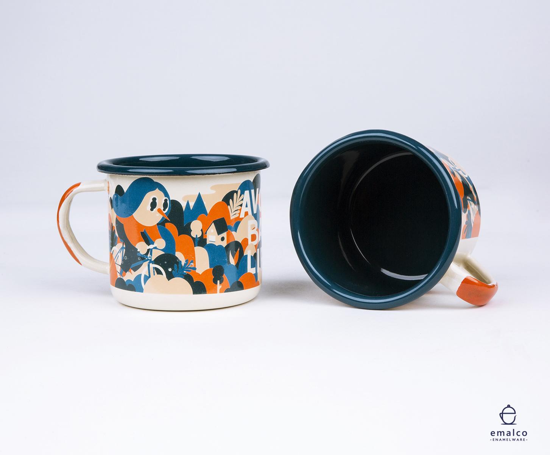 Enamel Mug Design For Good Life Coffee Illustration Portfolio Of Sami Viljanto