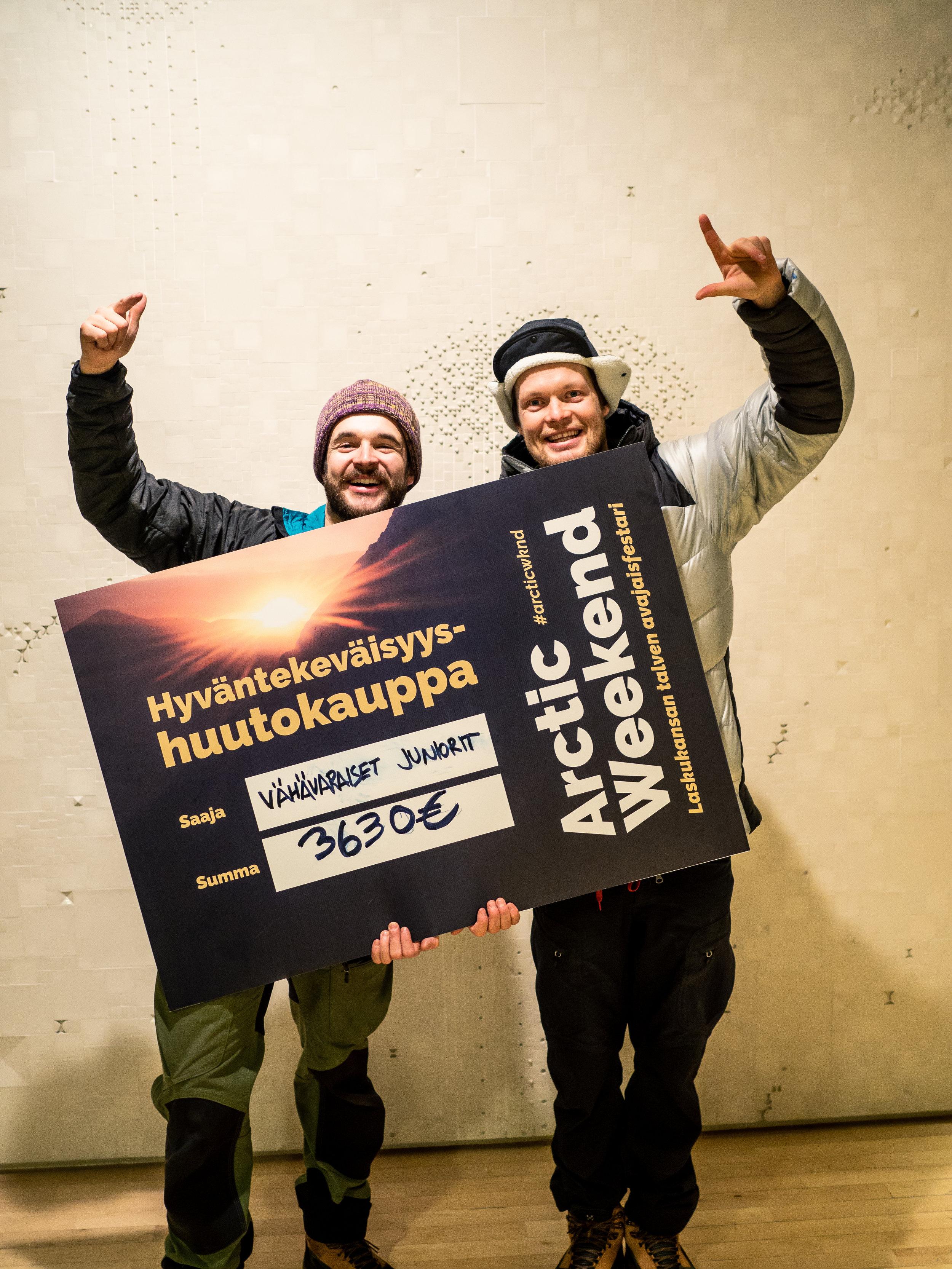 Arctic Weekend huutokaupassa kerättiin vähävaraisille junioreille 3630 € potti!