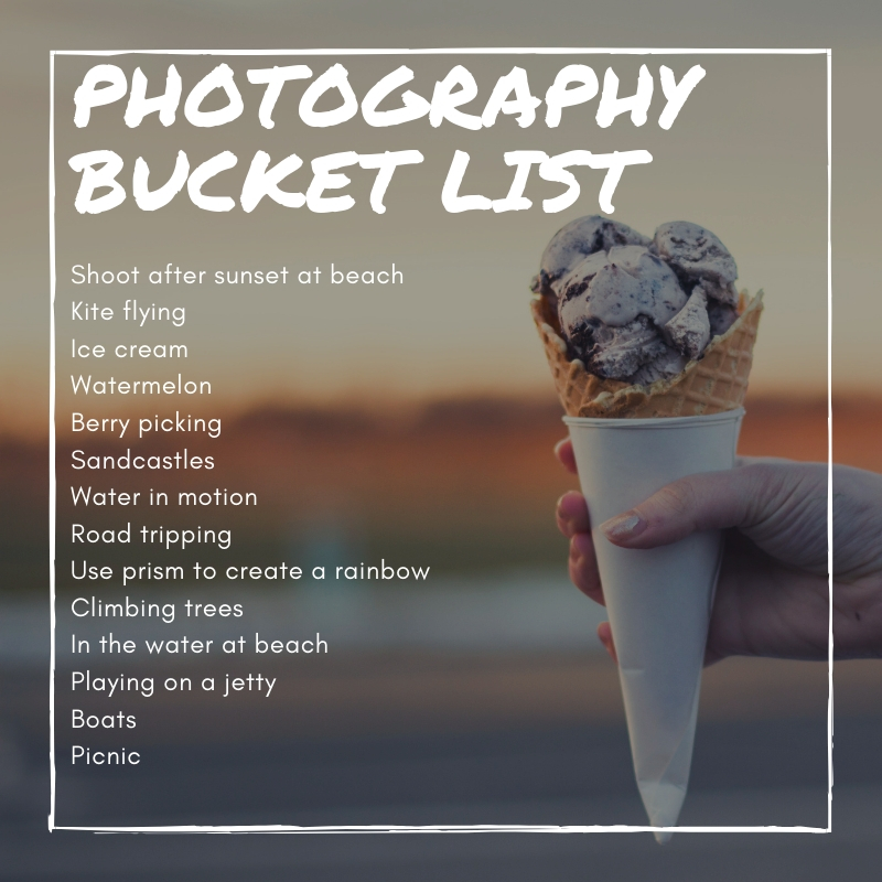 Seattle lifestyle photographer summer bucket list