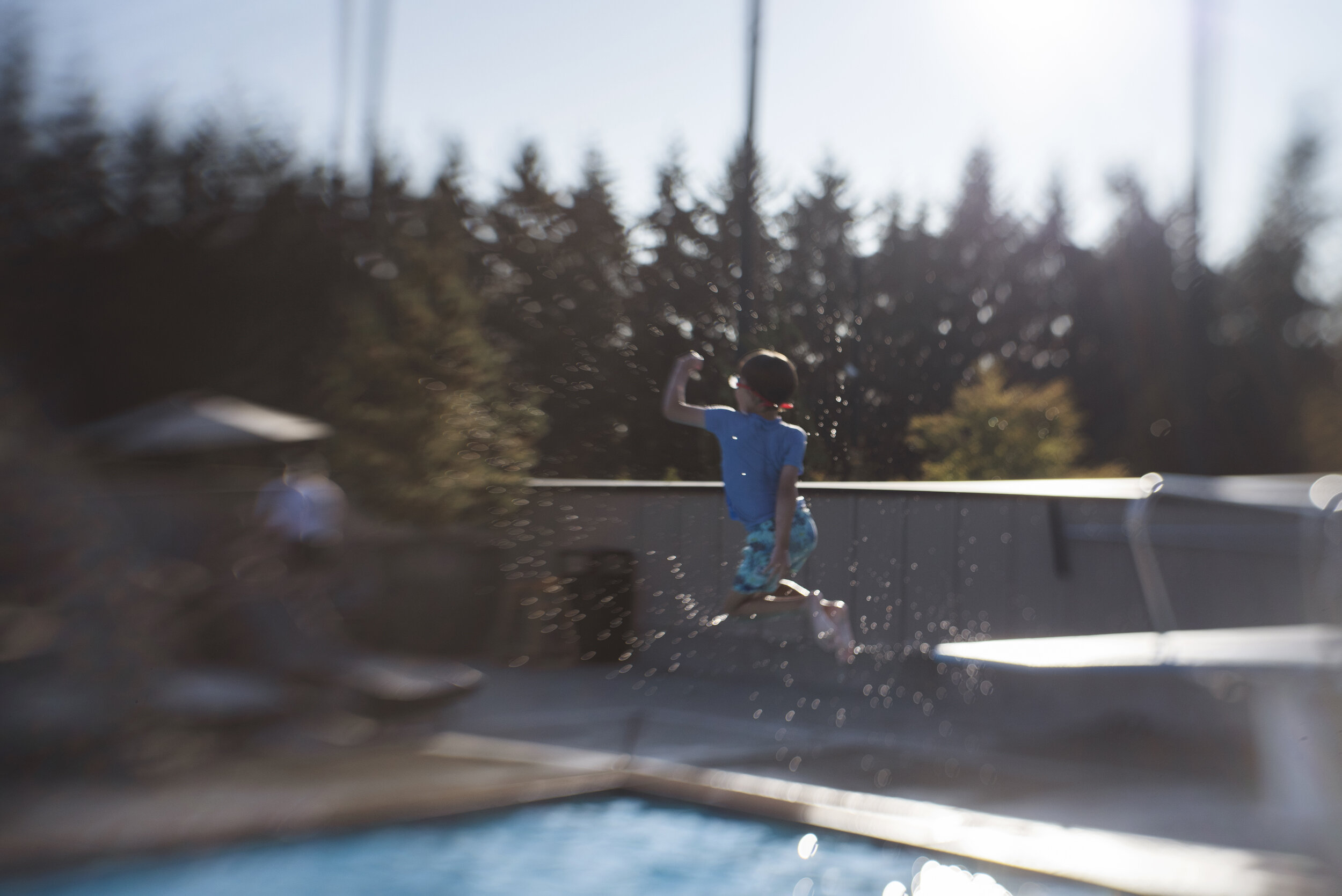 Seattle lifestyle photographer boy on diving board