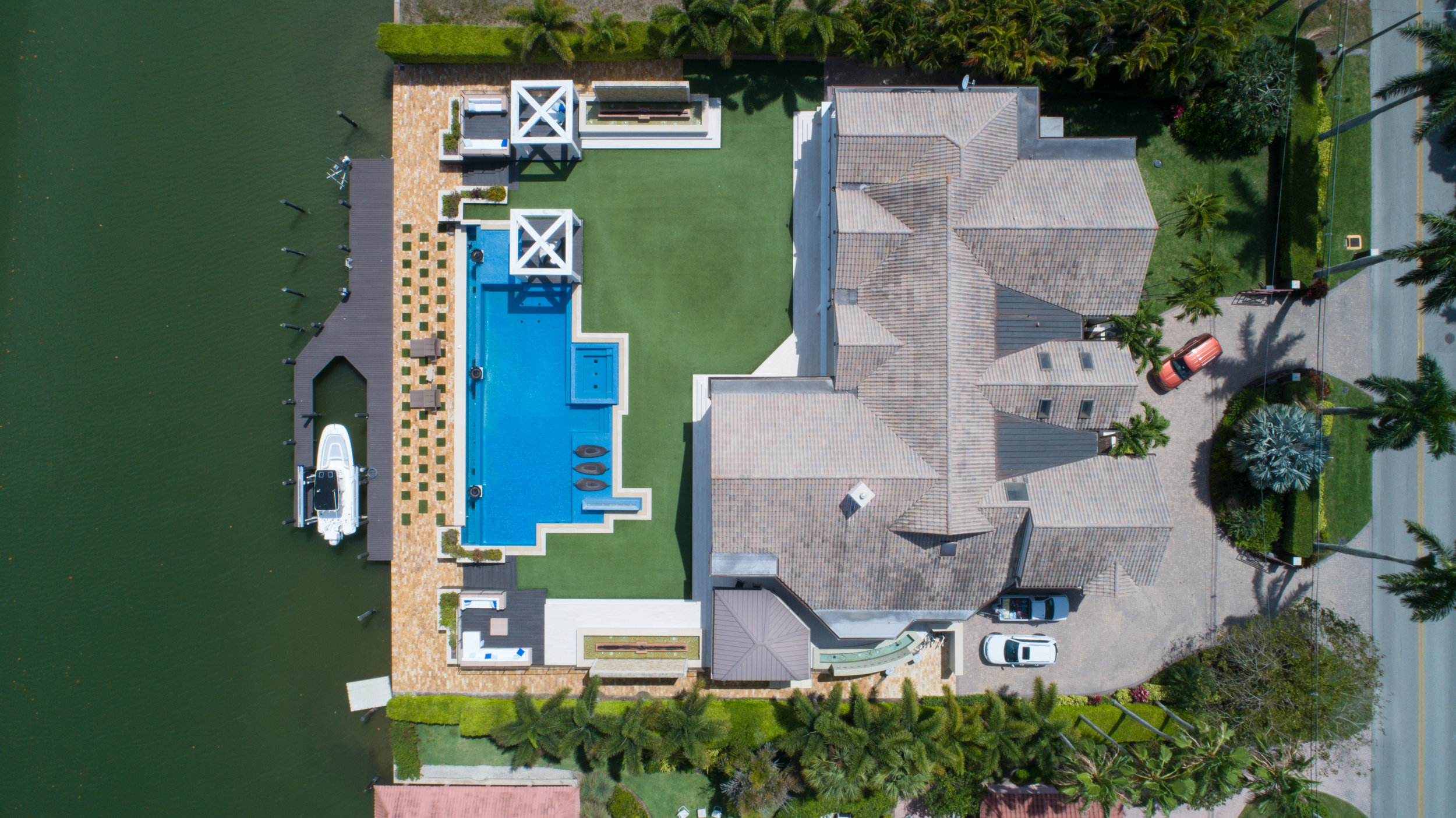 Real estate promotional drone photo.