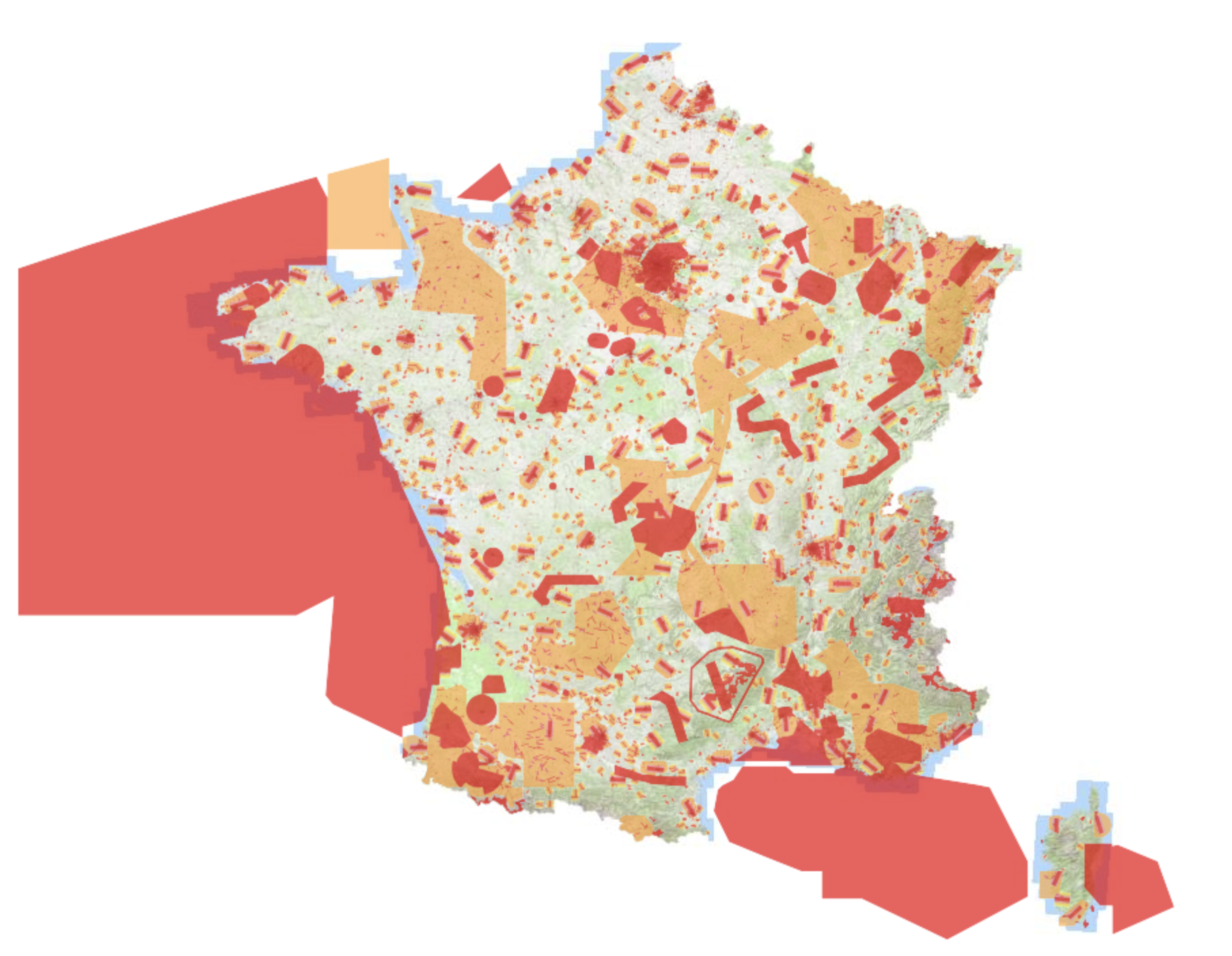 Where can I fly with my drone? - Here is an interactive map that will tell you where you can fly your drone on the French territory. If you have difficulties you can too,Download help with the use of the map.