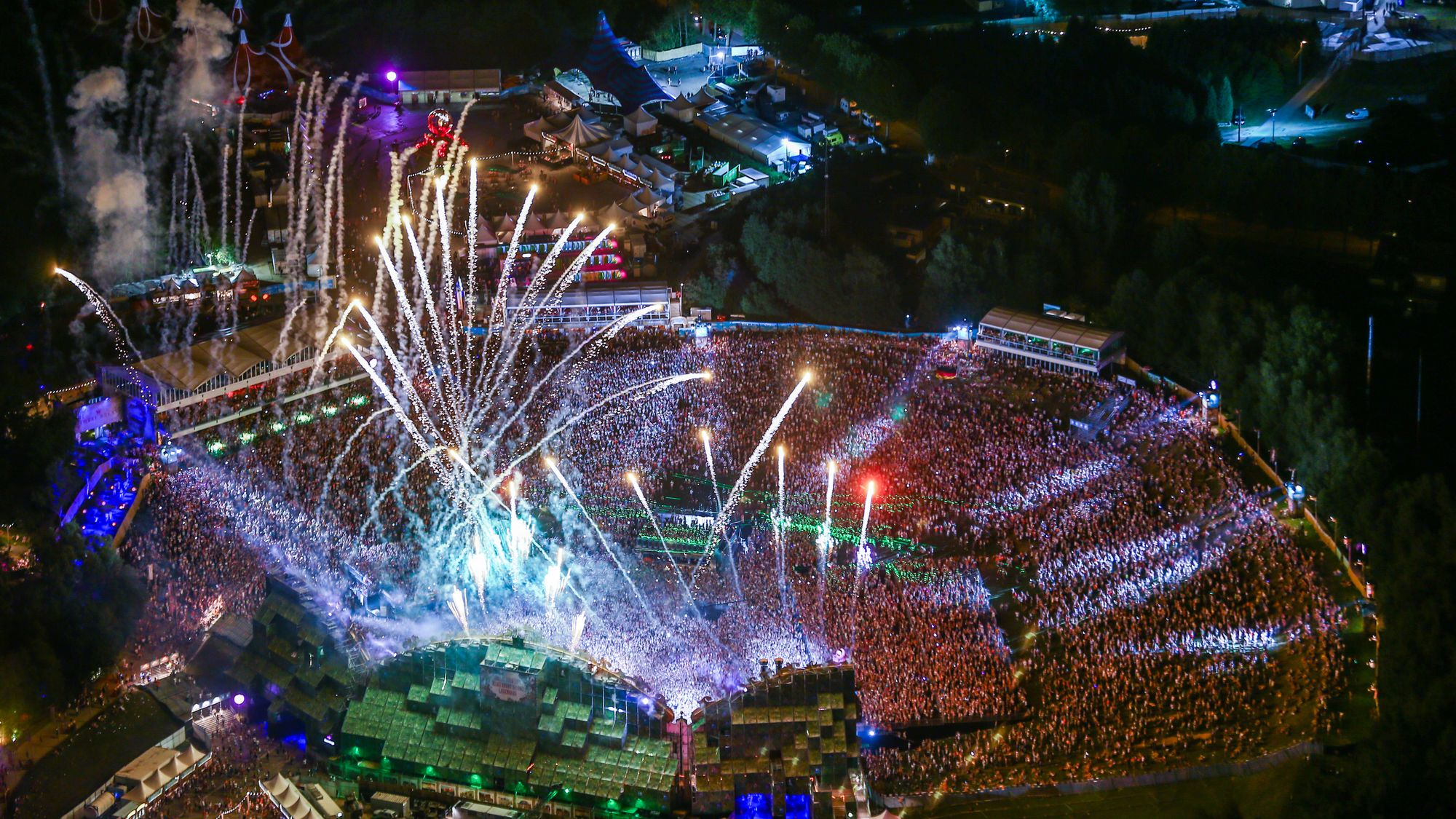An aerial view of the Tomorrowland festival, in Boom, in 2014.