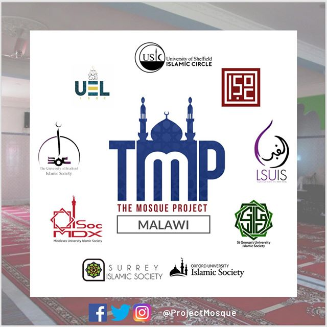 "🕌THE MOSQUE PROJECT🕌 We are very excited to announce that we are supporting The Mosque Project this Ramadan, where we are fundraising to build a mosque in Malawi. This is a Ramadan initiative carried out by Islamic Societies across the UK, partnered with Ummah Welfare Trust, who seeks the areas most in need of a masjid and carries out the planning and construction using local services and materials.  Donations can be made via this link: https://mydonate.bt.com/fundraisers/tmp19oxford and the Trust has a 100% Donation Policy.  Contributing to the construction of a mosque is a very noble act as the Prophet Muhammad (PBUH) said ""Whoever builds a masjid, Allah will build for him a house in Paradise."" [Bukhari & Muslim]  JazakAllah Khairan!"