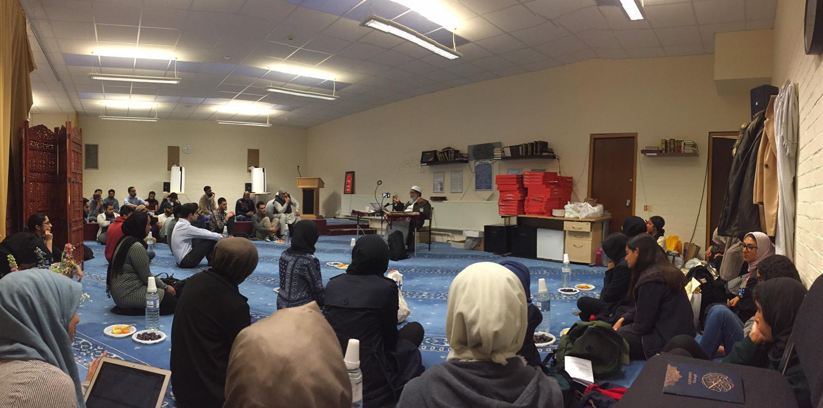 Religious Education class led by Shaykh Riyadh Nadwi