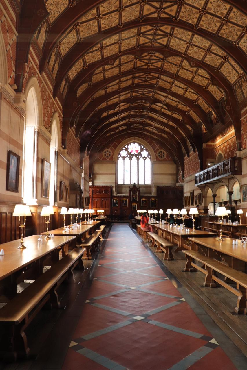 "Eid Breakfast at Keble College   ""After Eid prayer, we walked over to the gorgeous dining hall at Keble College and enjoyed a full English breakfast, complete with halal sausages."""