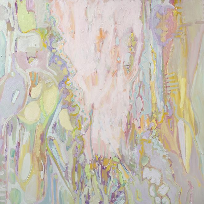 Fragrant Skies, oil on canvas (2016), 100 x 100cm