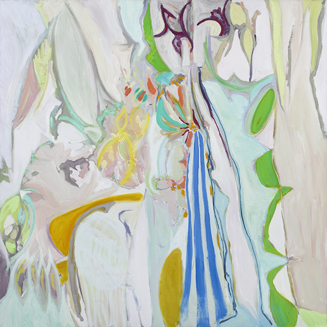 One Little Taste, oil on canvas (2016), 100 x 100cm