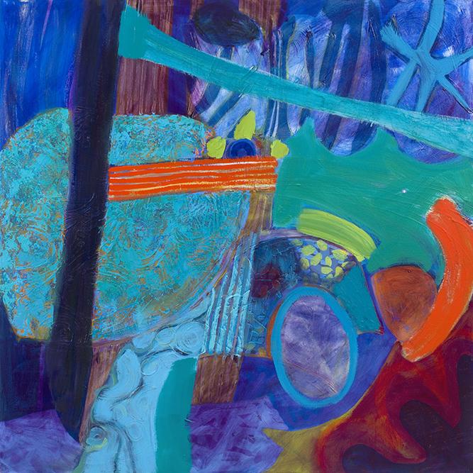 Rhapsody Of Things, oil on canvas (2017), 100 x 100cm