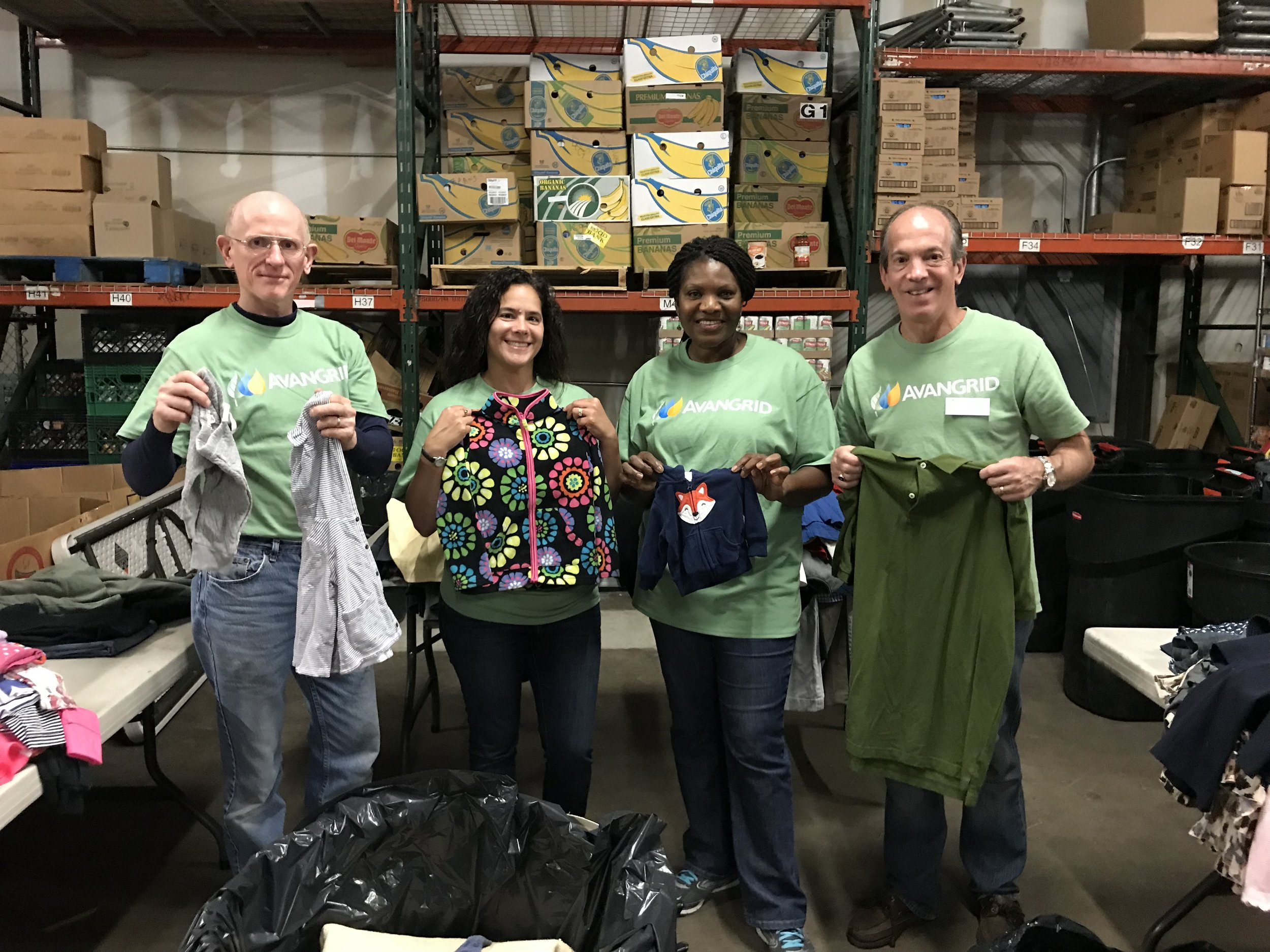 Sorting clothes at the Bridgeport Rescue Mission 9-29-2018.jpg