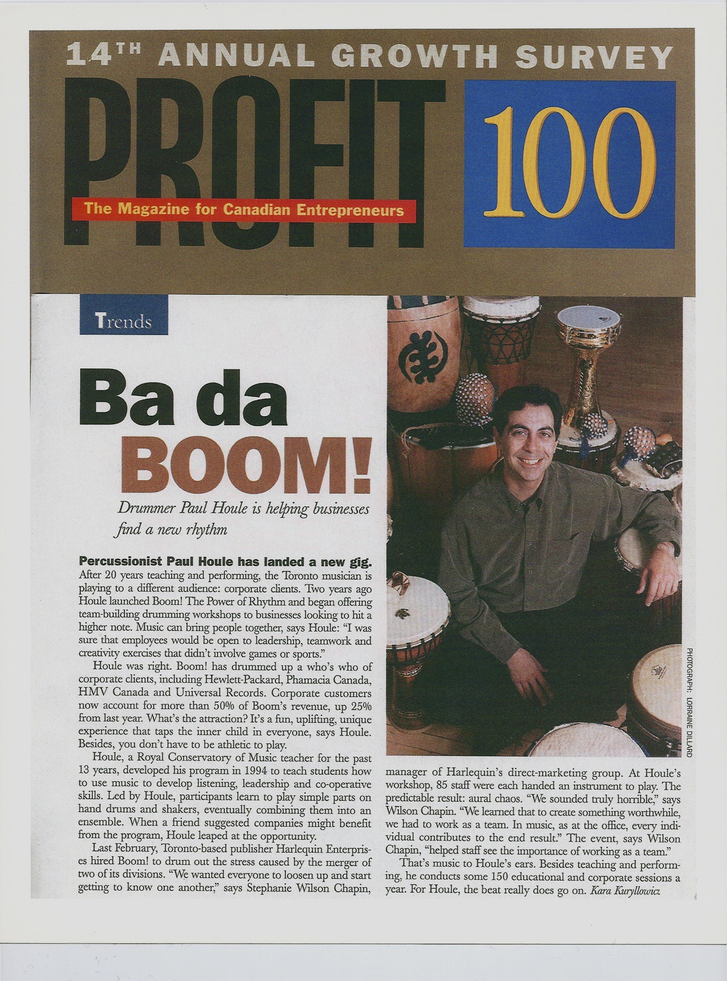 Boom! The Power of Rhythm - Paul Houle - Profit Magazine
