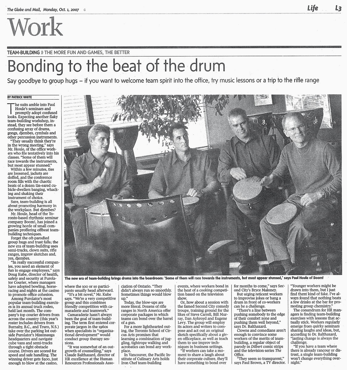 Boom! The Power of Rhythm - Paul Houle - Bonding to the beat of the drum- Globe & Mail.jpg