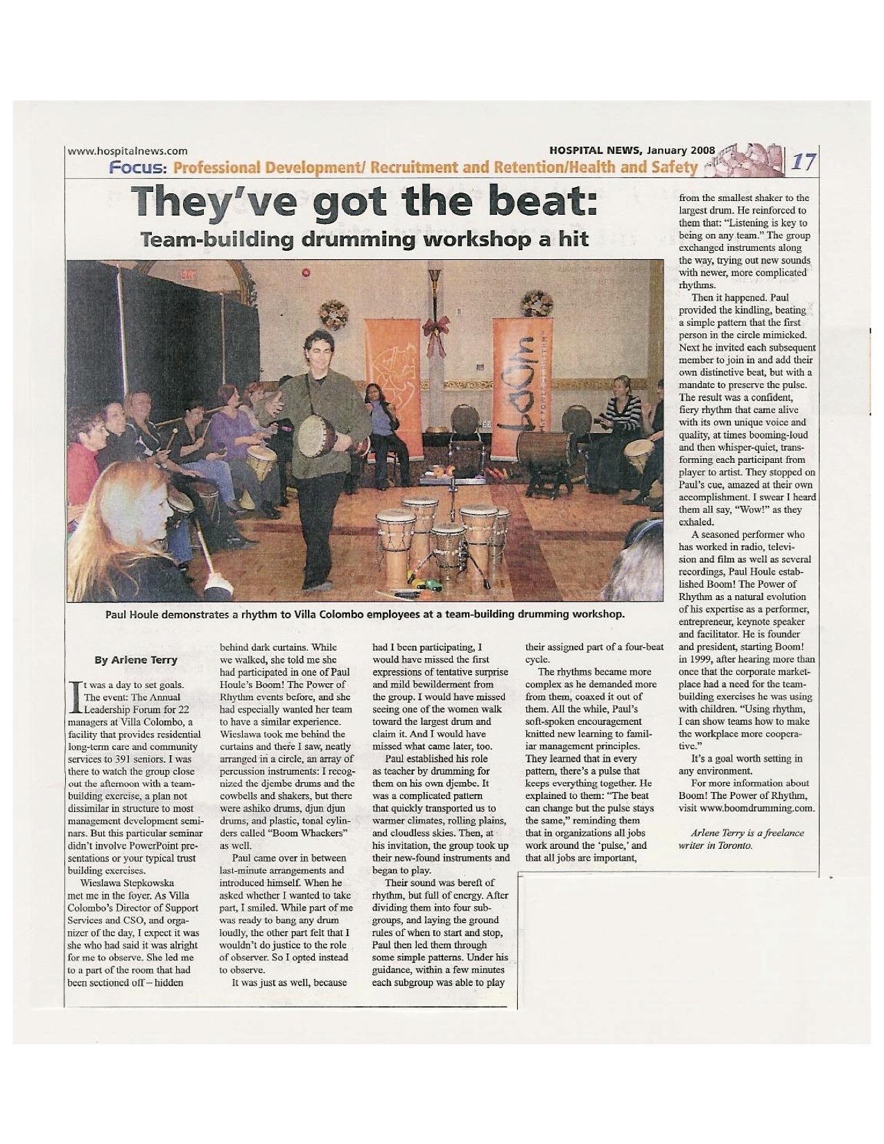 Boom! The Power of Rhythm - Paul Houle - They've Got the Beat - Hospital News copy.jpg