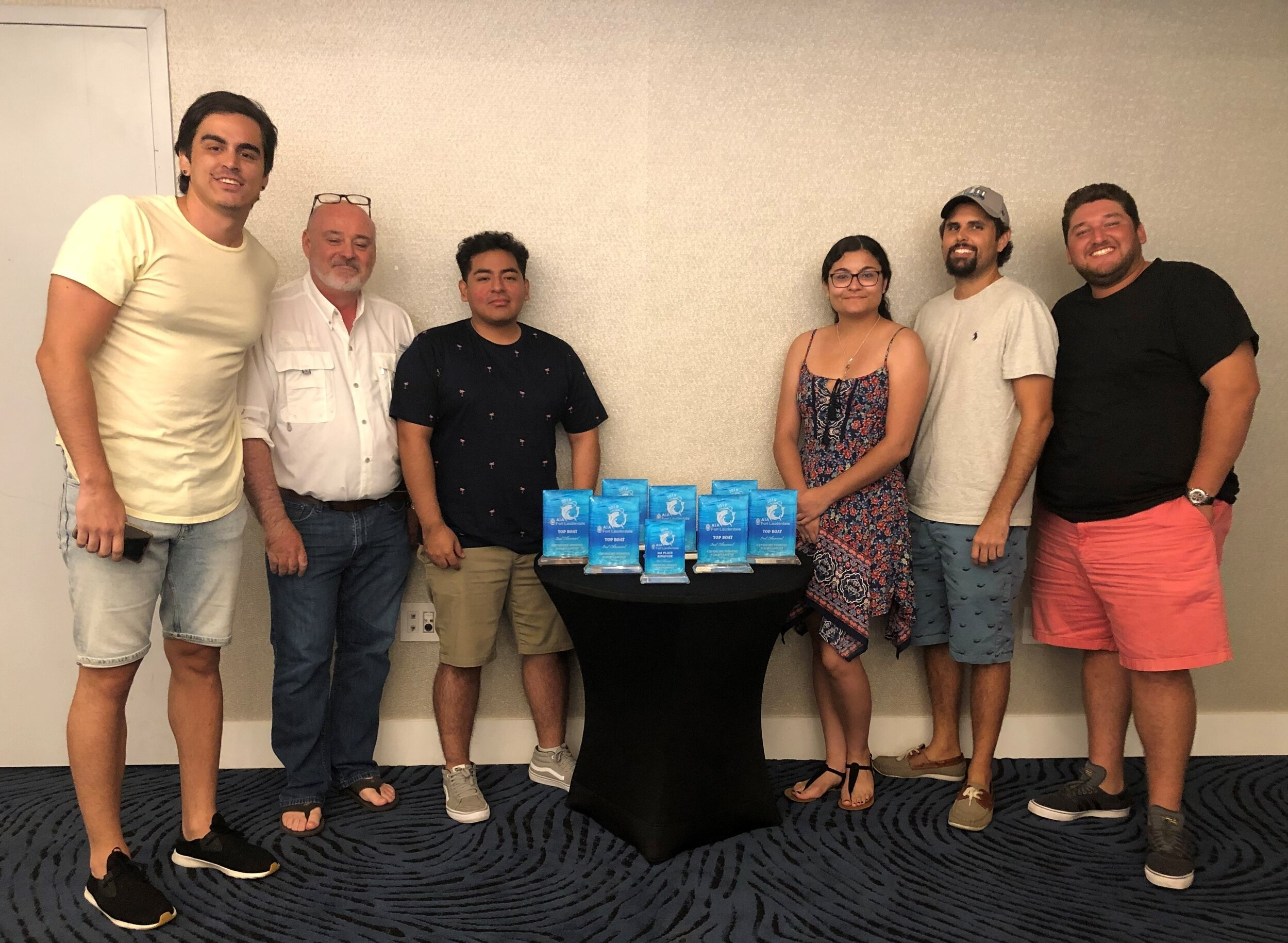 The Arcwerks team reeled in the Best Boat award at the AIA Ft. Lauderdale 2019  Fishing Tournament
