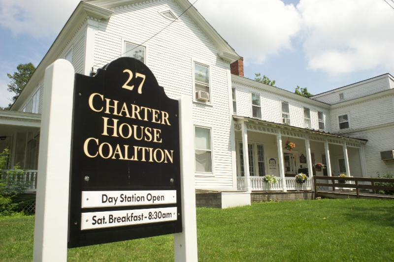 - Charter House Coalition has a Day Station where you can come to:Receive help filling out applications, have access to computers, search for jobs, training, or education opportunities, search for stable housing, get connected with other agencies or assistance programs, participate in other constructive activities, take a shower, and/or receive available material goods (clothing, shoes).