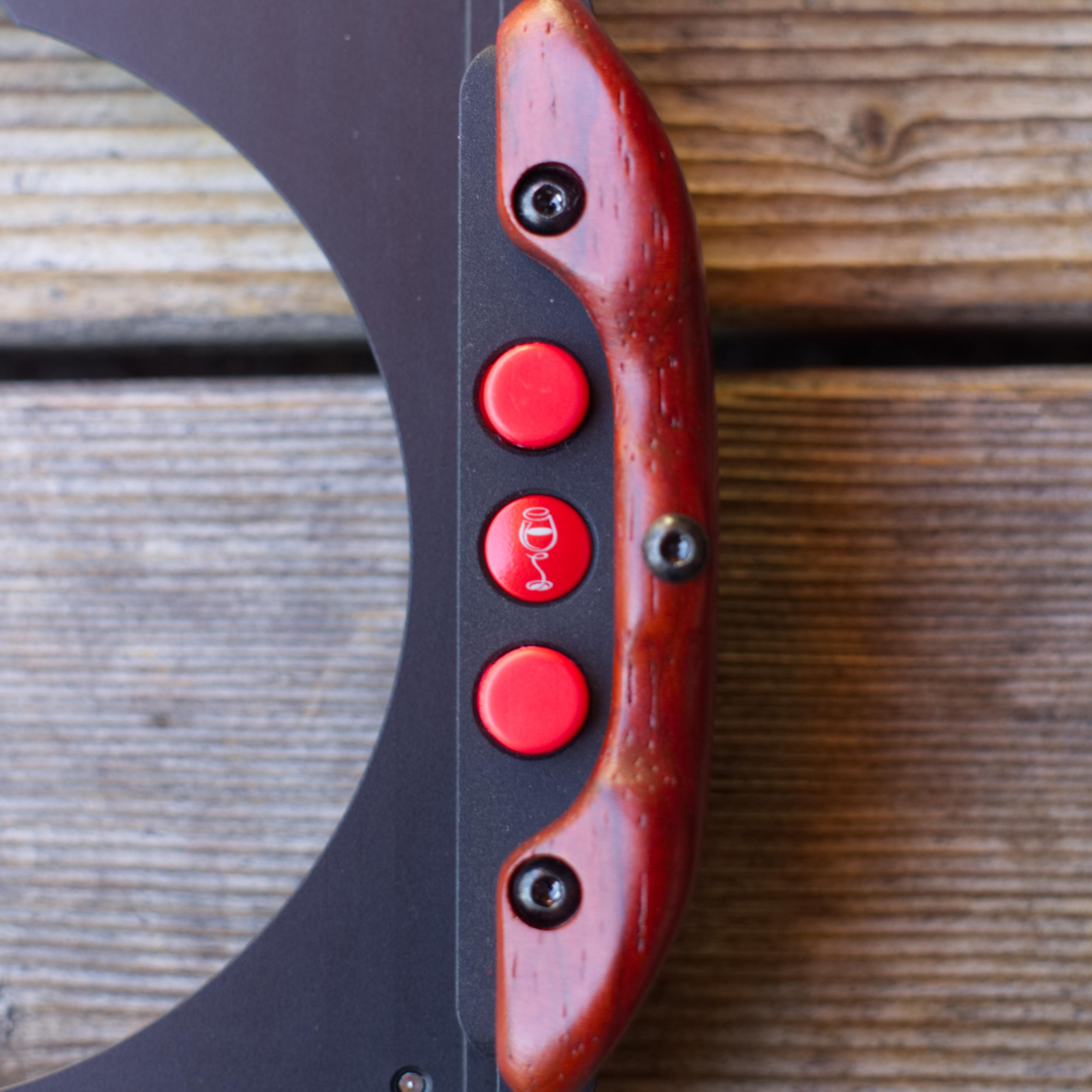 The WCC Filter Holder - Rosewood handle and unlocking buttons