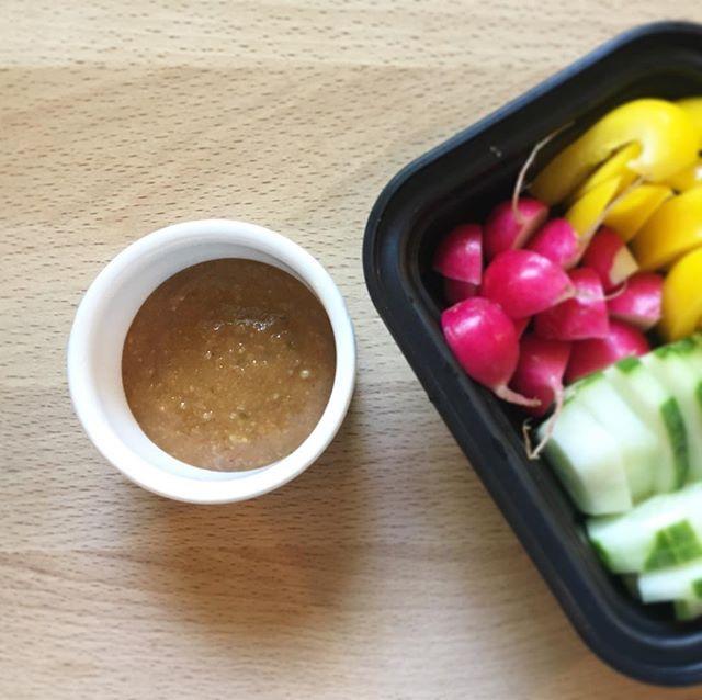 Snacking veggies is so easy with this homemade miso dip. . . . . . #koji #miso #fermentation #plantbased #vegan #youarewhatyoueat #foodismedicine #cleaneating #healthyfood #japanesefood #dip #veggies #vegetarian #dietitian #kidssnacks #probiotics #nutritionist #nutrition #healthysnacks #realfood #homecooking #味噌 #麹 #microbiome