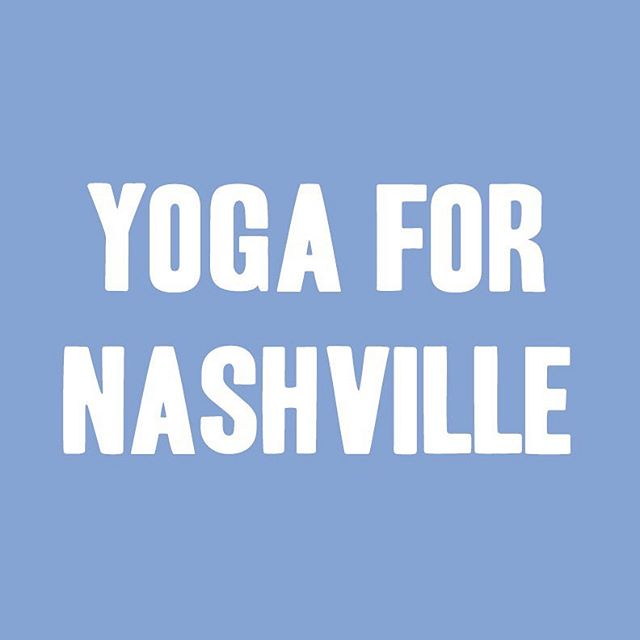 Yoga for Nashville, community, and continued practice 🧘♀️🧘♂️