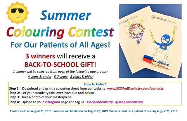 Check out our next contest!  #scopeddentistry #calgarymom #calgarykids #calgarymoms #calgarydads #yycmoms #yyycdads #yycfamily #yyckids #calgaryschild #raisingcalgary #calgarymama