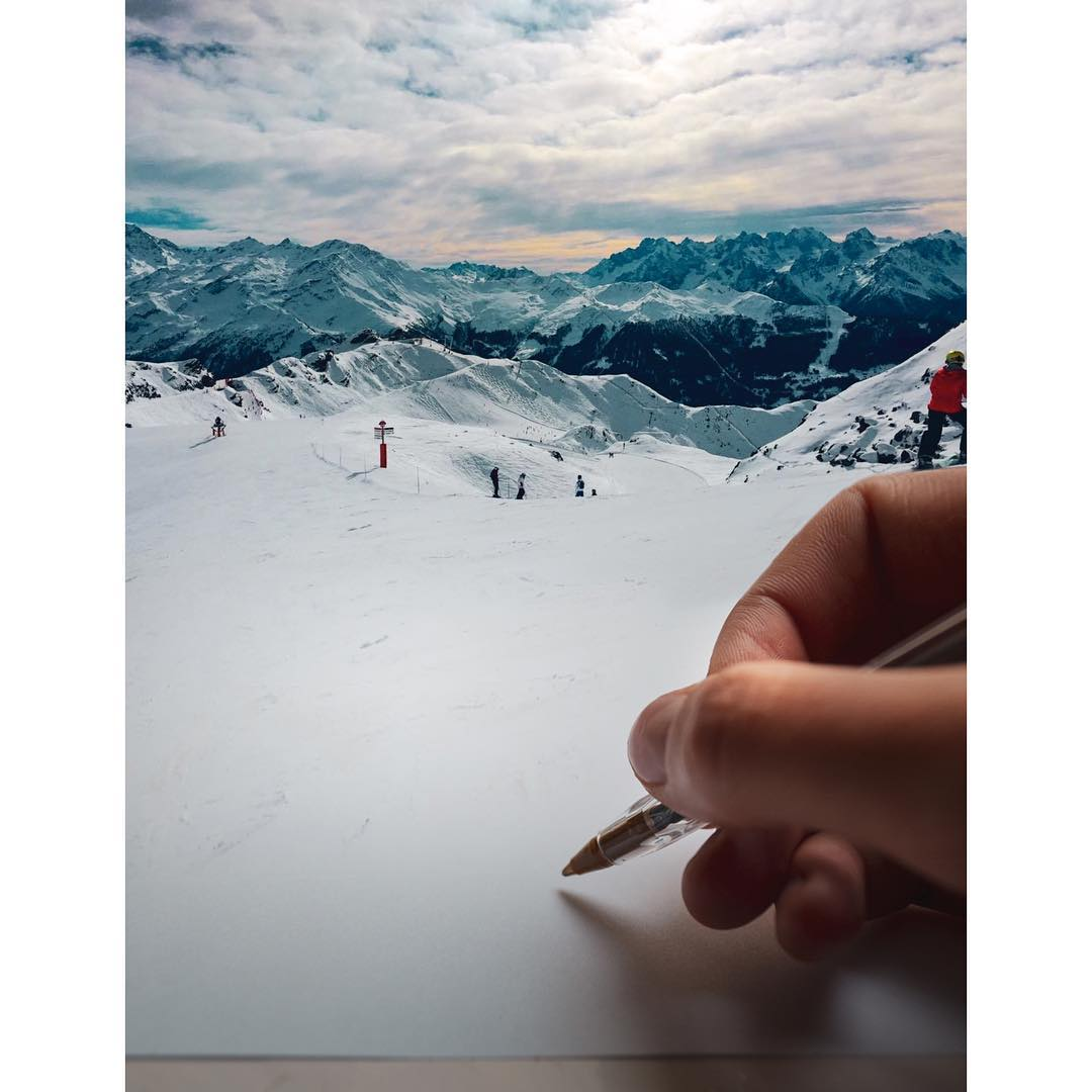 does this look like paper? Yes or snow?