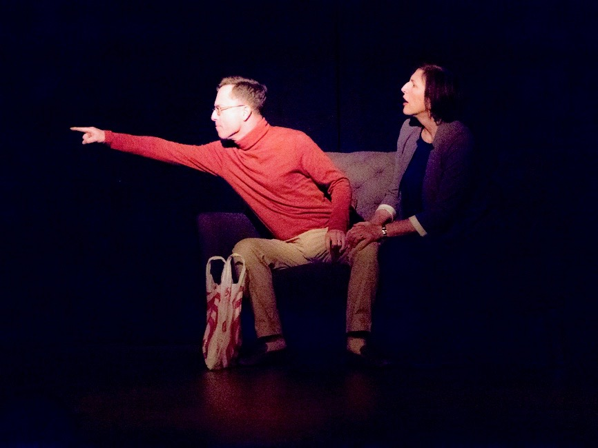 "John Ewing and Kathleen Poe in ""What Are You Going To Be?"" directed by Betsy Raymond."