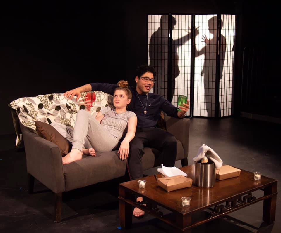 """Emily Vernon and Matt Canty in """"Paper Thin,"""" directed by Vernon Lewis."""
