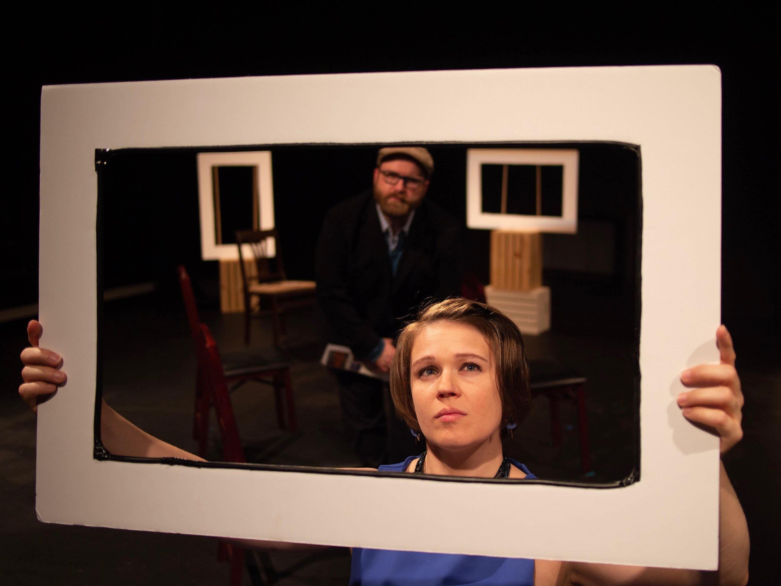 """Chris Scarberry and Christi van Eyken in """"Sold!"""" directed by Lucinda Hitchcock Cone."""