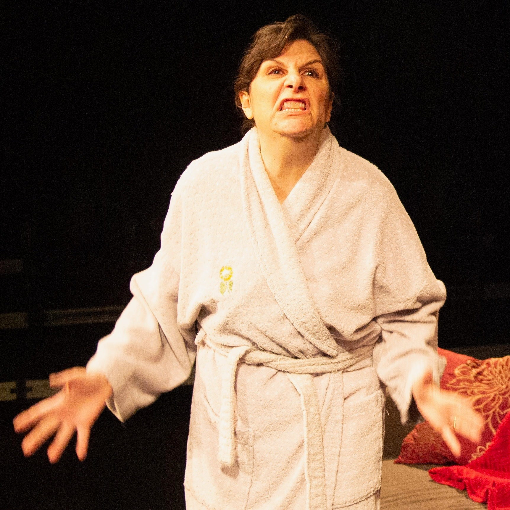 "Lisa Derthick in ""Mendacity, or The Herd of Elephants in the Room,"" directed by Andrew Fridae."