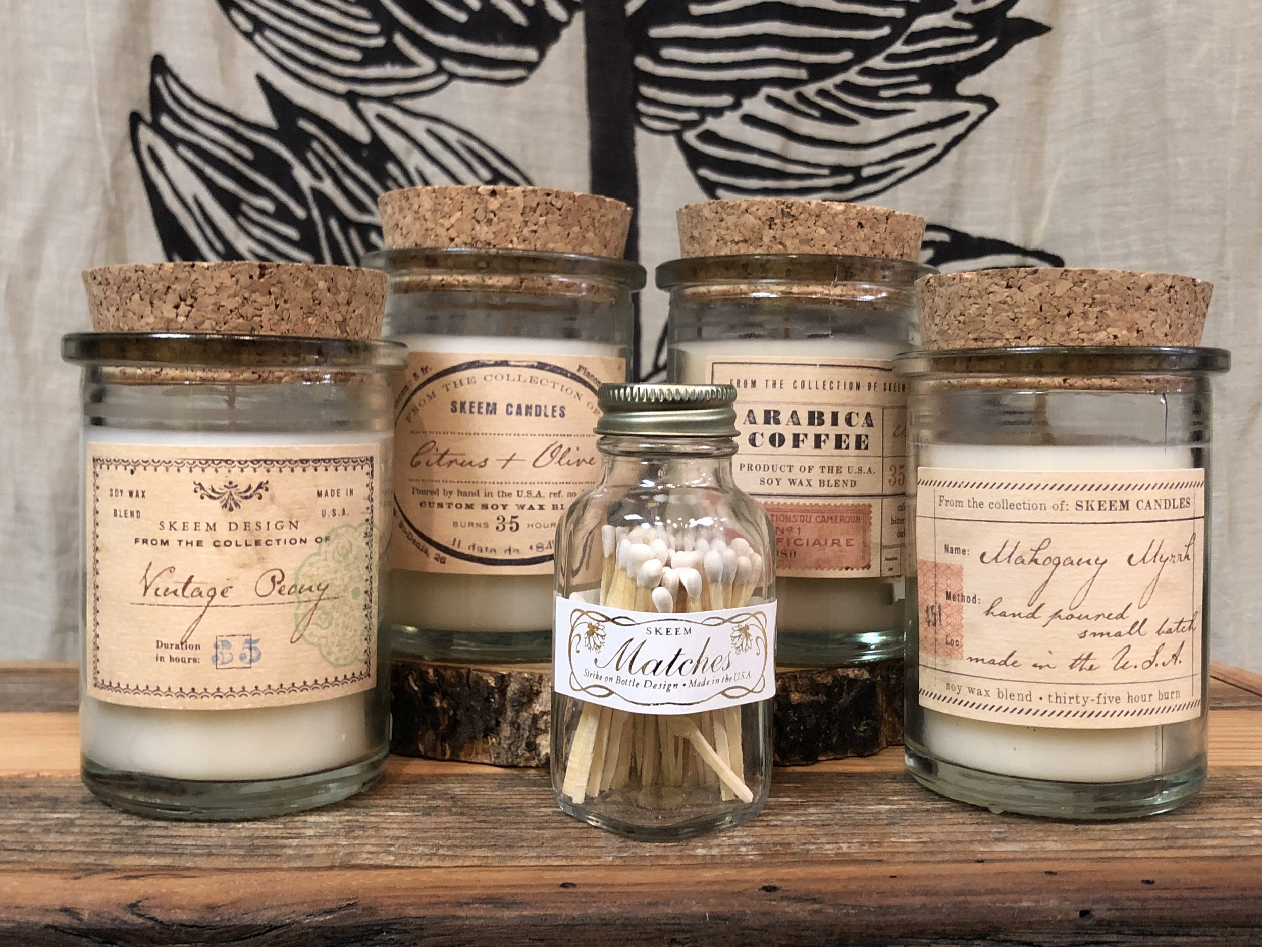 Field Jar Candles and Vintage Matches