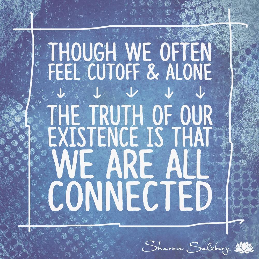 @SharonSalzberg #RealHappinessChallenge Day 28: Interconnectedness Meditation