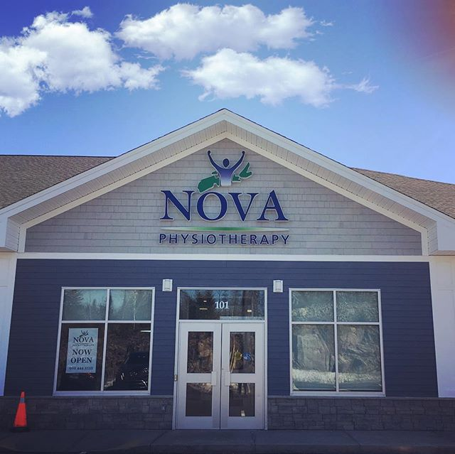 New set of internally illuminated channel letters for Nova Physio.