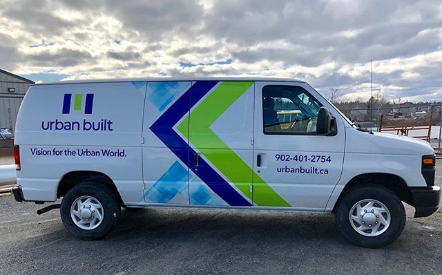 Vehicle wrap we did for Urban Built
