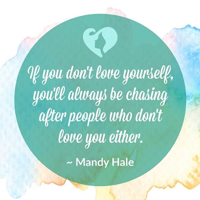If you don't love yourself, you'll always be chasing after people who don't love you either. #mandyhale 🙌🏼💕🙌🏼 . . . . . . . . . . #shine #letyourlightshine #shinebrightlikeadiamond #innerbeauty #loveyourself #youareenough #selfworth #sparkle #shineon #bebold #beboldbeyou #beyourself #glowup #hereweglow #noapologies #girlboss #bossbabe #watchmerise #keepitreal #youareworthit #womensupportingwomen #communityovercompetition #risingtidesociety