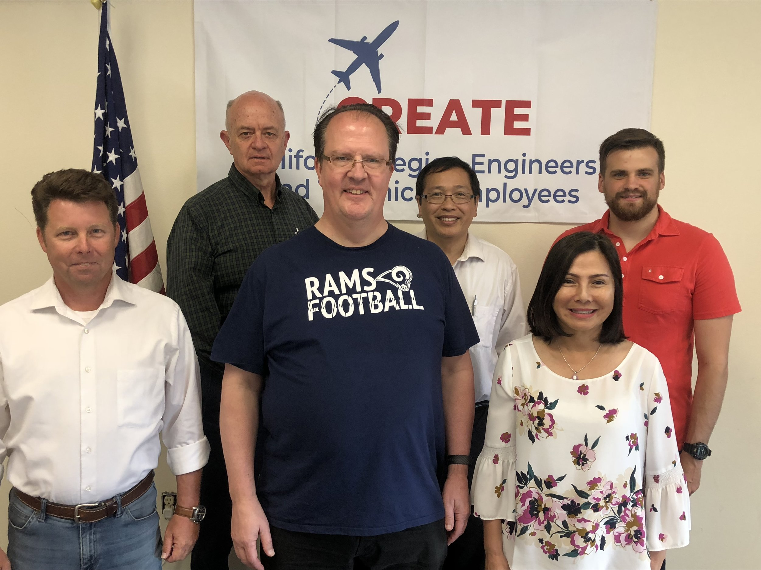 Who attended:  CREATE advocates who met with Rudy Duran in June, from left, John Williams, Randy Morgan, David Schroeder, Joseph Nguyen, Judy Tran and Ryan Hinds (Hinds did not attend the meeting).   Click    here    to see our video about the meeting.