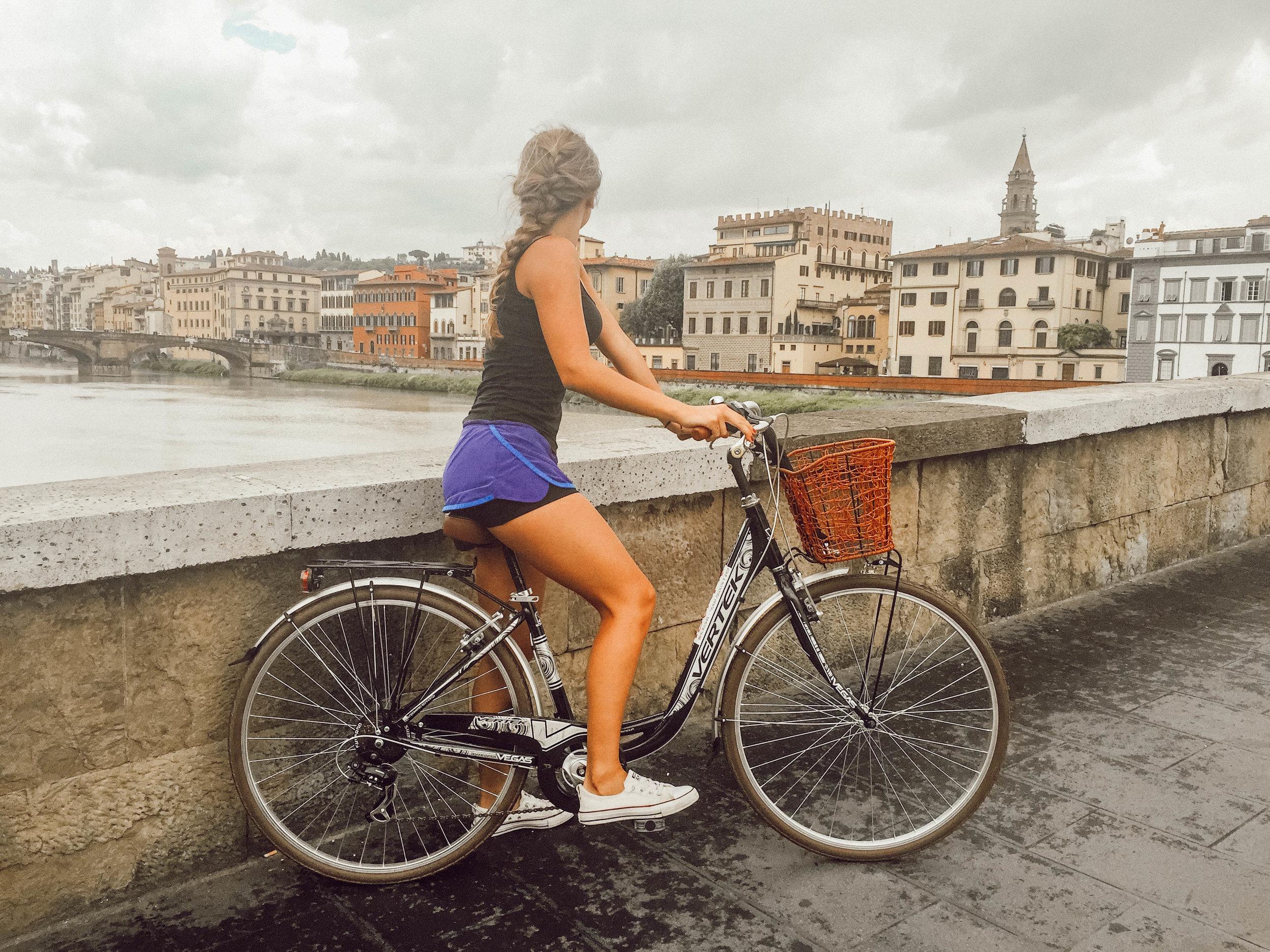 Bike through the city