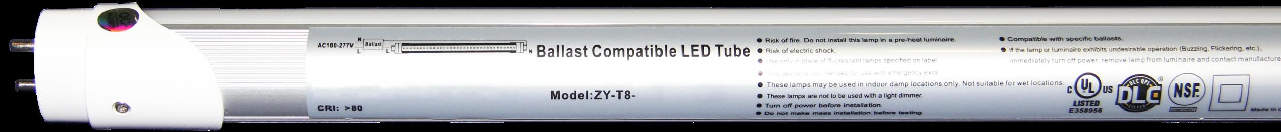 ZY-T8 LED TUBES, JAMES LIGHTING, JL LIGHTING, FLOURESCENT REPLACEMENT, 4 FOOT LED TUBES, 4 FOOT LIGHTS, COMMERCIAL LED LIGHTING, COMMERCIAL LEDS, LED LIGHTS, LED LIGHTING, ZY-T8-