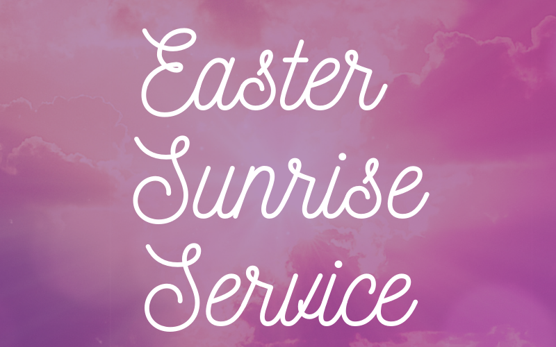 The Easter Sunrise service will be at 6:45 am at the Oklahoma City Memorial Grounds on Sunday, April 21st.