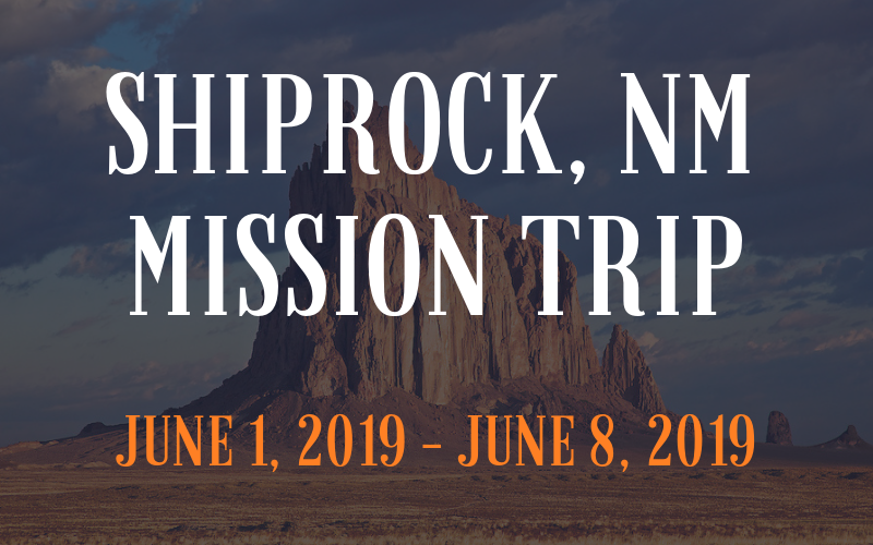 Thank you for giving to our mission trip to Shiprock, NM! First Church is sending 19 missionaries to the Navaho reservation in Shiprock, NM. We raised $388 that will help make our ministry and mission more effective. Please be in prayer for everyone involved in the mission trip.
