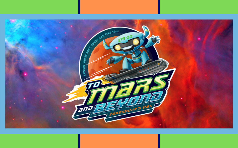 "This year's VBS will be ""To Mars and Beyond!"" It will be on Saturday, June 29th from 9:00 am - 3:00 pm. Make sure to register your kids for VBS this Sunday! Registration sheets are in the Welcome Center."