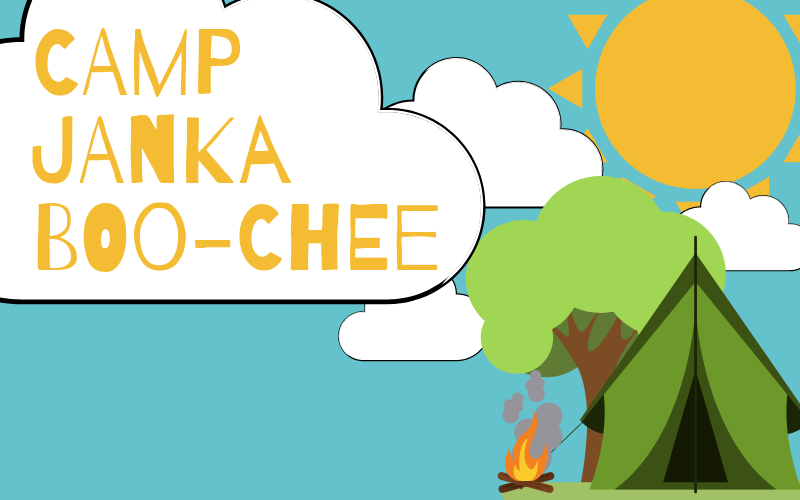 Camp Janka Boo-Chee will be July 11-12! Drop off will be at 12:00 pm and you should pick up your child by 10:00 am the next day. Registration sheets are in the Welcome Center. Contact children's director, Kendal Willis with any questions.