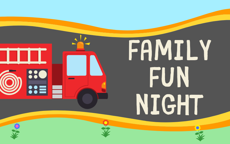 Join us July 10th at 6:00 pm for a Family Fun Night! Be sure to sign-up in the Welcome Center, so we know how may people to expect for dinner that night. We will be going down to the fire station to see the fire trucks!