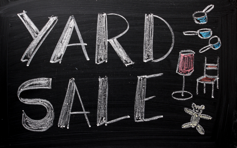 We are having a church yard sale in the Choir Room! Tables, chairs, lamps, clothes racks, and odds & ends will be available for viewing before and after church. Donations will be accepted. The yard sale starts this Sunday and will be available for 4 weeks!